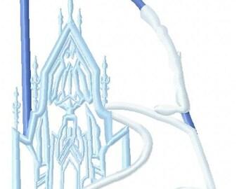 Frozen Castle Original Artwork by UDOappliques™ Machine Embroidery Applique Design Digital Download