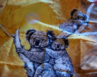 vintage koalas scarf