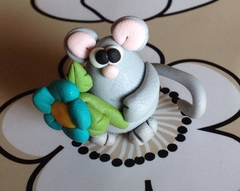 Mouse Polymer Clay Creation by bdbworld on Etsy No 2