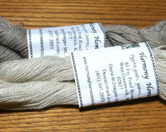 Commercially spun pygora in  one ounce skeins. This is very fine  two ply laceweight yarn.  180 yards. Light gray or creamy white.