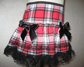 sequoia NEW Black,White,Red,Check Lace Frilly Skirt,Punk-All sizes,Goth,Rock,Lolita,Gift