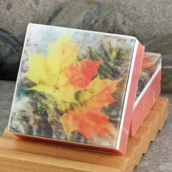Graphic art soap fall leaves i in a crisp apple scent for Fall soap scents