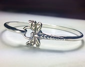 Dragonfly Bracelet Sterling Silver Dragonfly Jewelry- Dragon Fly Bangle Hook Bracelet - Unique Vintage Inspired Fairy Woodland Insect