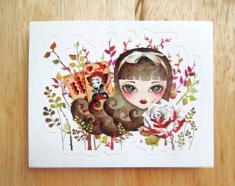 Hidden Garden Die Cut Vinyl Sticker, Alice in Wonderland Sticker