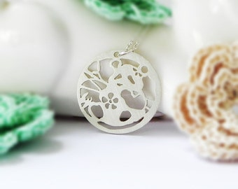 Panda Necklace, Sterling Silver