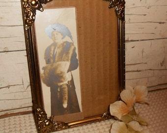Vintage Ornate Brass Picture Frame