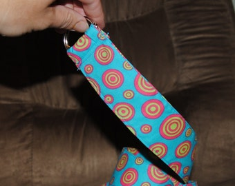 Travel Belt blue with green and pink circles