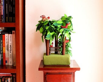 Forest, Group of five trees, Home decor,  Housewarming gift, hidden corner of park, spring decor