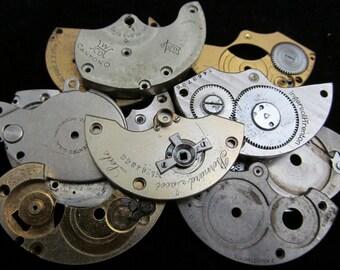 Destash Steampunk Watch Clock Parts Movements Plates Art Grab Bag PR 67