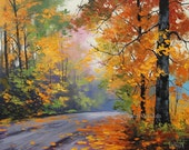 AUTUMN Painting Tree oil Painting tree landscapes by listed artisr Graham gercken