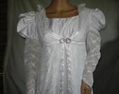 Custom made Regency 2 pc Jane Austen Edwardian Gown Dress and Pelisse robe coat 2 styles