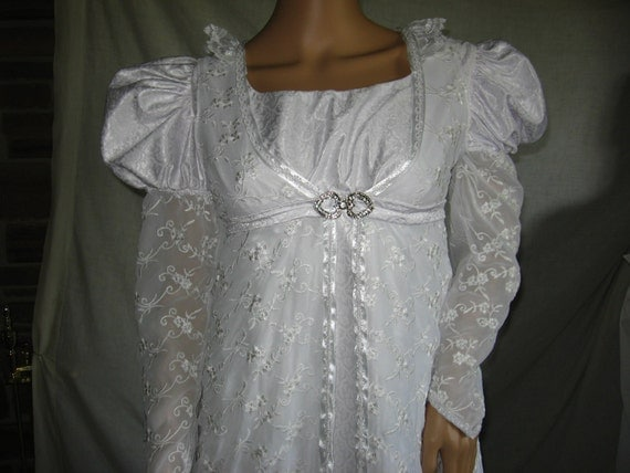Custom made Regency 2 pc Jane Austen Edwardian Gown Dress and Pelisse robe coat 2 styles