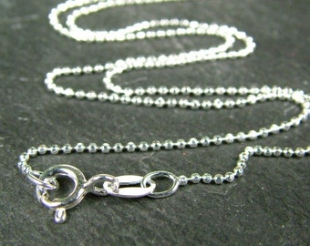 16 Inch Sterling Silver Diamond Cut Chain Necklace (CG6029a)