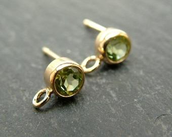 Gold Filled Peridot Ear Post ~ PAIR (CG6595)
