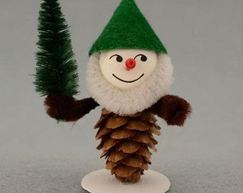 Pinecone Gnomes Kit Czech Republic Christmas Elves Kit Makes 4 Christmas DIY