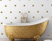 30 small square - vinyl wall decals, bedroom decor, bathroom decor, geometric design, sticker