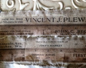 Fabric Ruler Trim - Tim Holtz Line - Measuring Tape Trim - Advertising Trim -  Journaling Fabric Tape