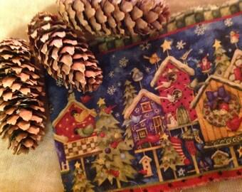 Festive Christmas Trim Bird Houses