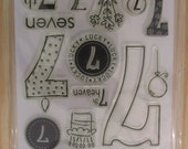 Clear Stamps, Hero Arts, Seven 7,  Rubber Stamps, 7th Birthday