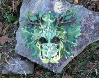 Wood Dragon Leather Mask