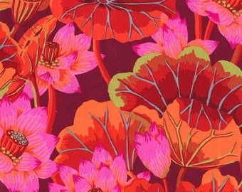 Kaffe Fassett Red Lake Blossoms Flowers Fabric 1 yard