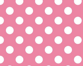 Pink Polka Dot Diaper Clutch with a Pocket- Ready 2 Ship