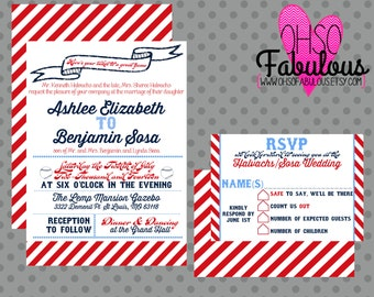 Ashlee /// Baseball Wedding Invitation Set  /// Deposit