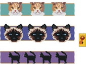 The Cat House (Collection of beaded Cat bracelets in peyote Stitch)