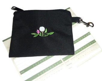Golf Accessory Bag - Golf Ball with Flower