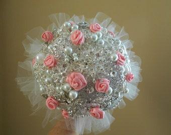 READY TO SHIP, heirloom, bride brooch bouquet, brooch bouquet, wedding, bouquet, wedding bouquet