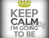 Keep Calm I'm Going To Be An Uncle Machine Embroidery Design