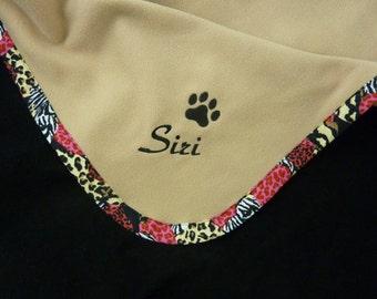 Pet Blanket.Personalized Pet Blanket. Dog Blanket. Cat Blanket. Fleece Pet Blanket. Animal Print Pet Blanket