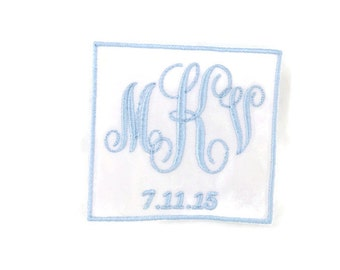 Wedding Dress Label. Modern. Wedding Dress Labels.Wedding Dress Patch.Something Blue Wedding Patch.Embroidered Wedding Dress Label.