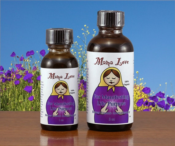 Organic Flower Essence Aromatherapy for Inspiration, Manifesting Life Purpose, Reiki-Infused Bach Flower Personal Care, Body, Bath, Massage