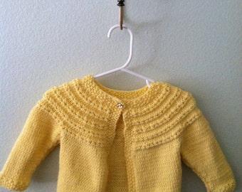 Baby Eyelet Yoke Sweater