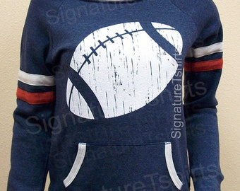 Football Off the Shoulder Sweatshirt - Womens Sweater - Girly Sport sweater - Game Sweatshirt team cute shirt Christmas Gift