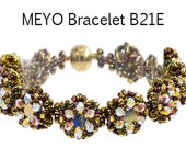 MEYO Swarovski round stones Beadwork Bracelet DIY Beading Kit Tutorial