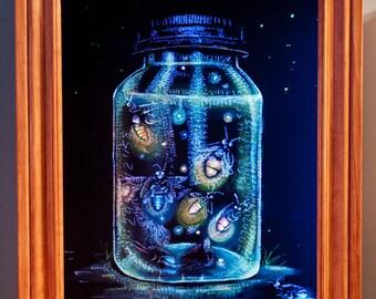 Jar Glow 20 x 24 In Shadowbox Frame