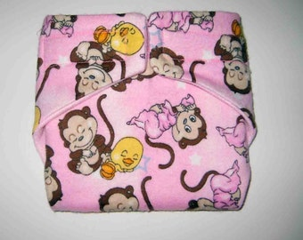 Baby Doll Diaper/Wipe-Dancing Monkeys=Fits Bitty Baby, Baby Alive, Cabbage Patch, American Girl Dolls and More