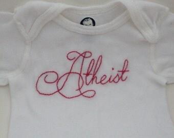 Atheist baby Onesie 3-9 month