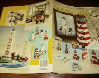 Plastic Canvas Pattern Lighthouses Needlecraft Shop 843872 Plastic Canvas Pattern Leaflet