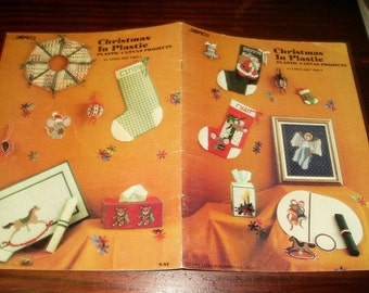 Holiday Plastic Canvas Patterns Christmas by Sabra S-52 Plastic Canvas Pattern Leaflet