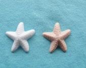 25 small starfish soap favors - white or tan