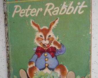 1958 A Little Golden Book Peter Rabbit - The Tale of Peter Rabbit by Beatrix Potter Book marked A