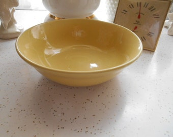 Vintage Yellow Pottery Bowl