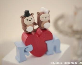 Otter Wedding Cake Topper---k609