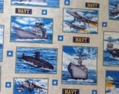 US Navy Ships Fabric By The Yard