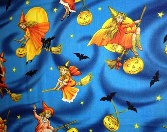 Vintage Look Witch Fabric By The Yard