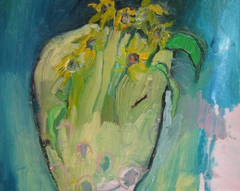Popular Items For Sunflower Vase On Etsy