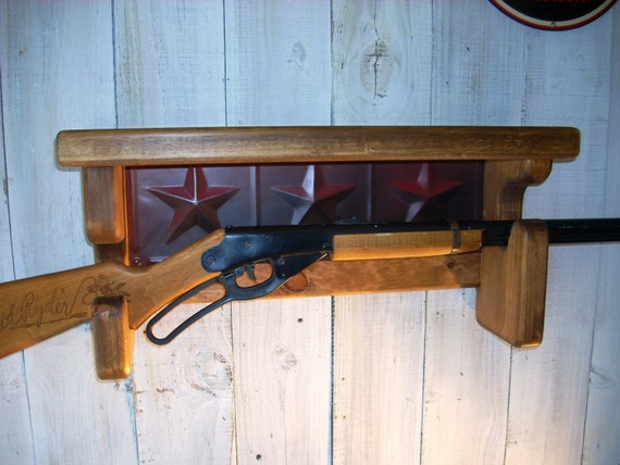 Red Ryder Gun Rack Wall Shelf Western Furniture